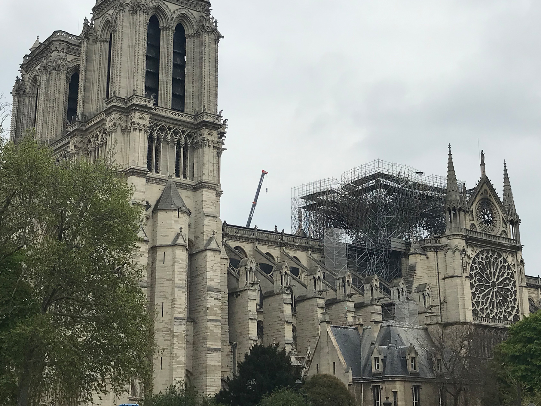 Aftermath of the Notre-Dame fire